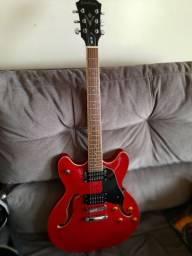 Guitarra Semi-Acústica Washburn HB30 - Cherry C/case Gator e correia Fender .