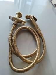 Vendo ducha higiênica dourada