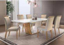 Título do anúncio: Mesa de Jantar Sofia 6 cadeiras com tampo de vidro em Mega Promoção !