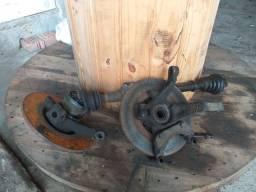 Montantes esquerdo e direito com disco e semi eixo renault