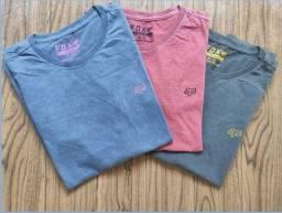 Camiseta Fox Azul e Cinza