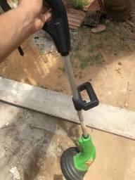 Aparador de grama e ventilador