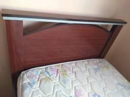 Cama Solteiro c/ Auxiliar MDF 100% e um colchão semi-novos