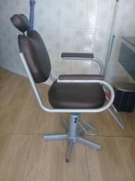 Cadeira hidraulica de barbeiro