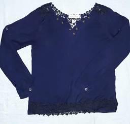 Blusinha social TAM P/ cor azul escuro