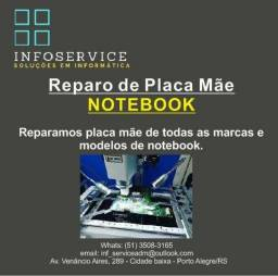 Conserto( reparo) placa Mãe Notebook