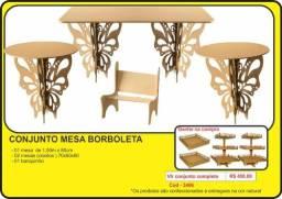 MDF - Conjunto mesa borboleta