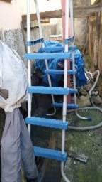 Escada piscina inflavel/estrutural 4 degraus dupl