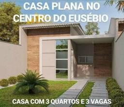 Pré-lançamento no Eusébio casa plano com 3 quartos