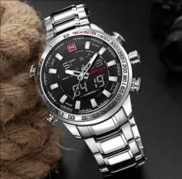 Relógio Masculino Prata Naviforce 9093