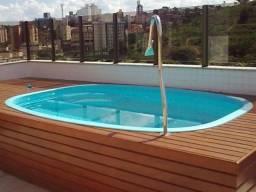 HM Oferta piscina de fibra nova 3,45x2,41 com escada