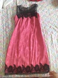Vendo vestido de rosa com preto - R$60 pra vender HOJE