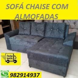 O Melhor Preço da Ilha!!Sofa Chaise com Almofadas(Novo) Com Entrega Gratis!!