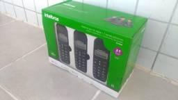 Telefone Sem Fio Digital Intelbras + 2 ramais