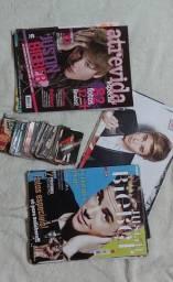 Revistas, pôsteres e cards colecionáveis Justin Bieber