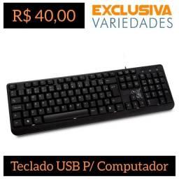 Teclado USB P/ Computador MaxPrint + Entrega Grátis