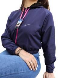 Jaquetas corta vento feminina Modelo Cropped Com Capuz Varias Marcas