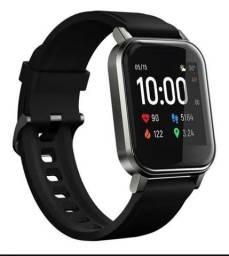 """Smartwatch haylou 2"""" pulseira black de silicone  LS02"""