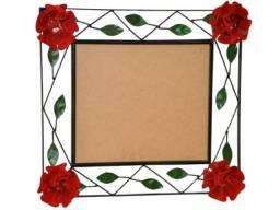 Moldura Para Espelho Pequena Banheiro Flor Artesanal