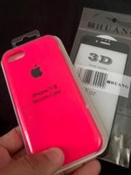 Case silicone para iPhone 7/8 rosa