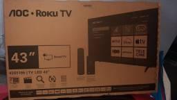 Título do anúncio: Tv led smat 43 full hd Aoc Roku Serie 5195