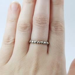 Título do anúncio: Pandora novíssimo c certificado anel corações em prata 925 tamanho 58/20 Brasil