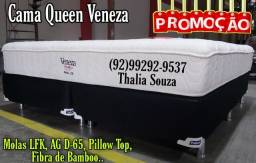 Título do anúncio: Conj. Queen Veneza Pelmex Fibra de Bamboo\D-65\Molas Lfk _-_++_ frete grátis