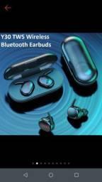 Fone de ouvido Bluetooth com biométria