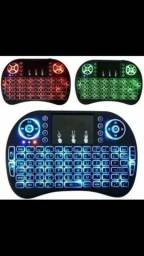 Mini Teclado Led Air Mouse Touchpad Sem Fio Usb