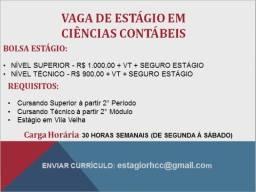 Título do anúncio: Vaga de estágio Ciências Contábeis