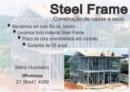 Título do anúncio: Construção de casas de Aço. Qualquer modelo e tamanho