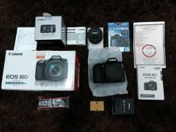 Canon 80D + Lente 50mm f/1.8 STM + Bolsa Fancier + Cartão Classe 10 UHS