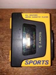 Walkman Sony sports amarelo.
