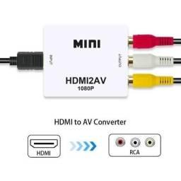 Conversor HDMI para RCA com Áudio NOVO
