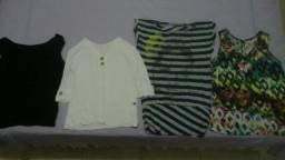 Vinte e três peças de roupa feminina