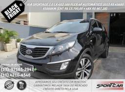 Kia Sportage Preto 2.0 Lx 4x2 16v Flex 4p Aut. 2013 R$ 45.666,00 93044Km - 2013