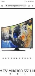 Smart TV 55 polegadas tela curva