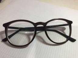 Armação redonda para óculos de grau