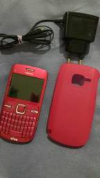 Nokia C3 Pink + Carregador + Case