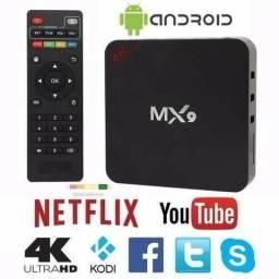 Tv Box MX9 4k, Tv de Tubo Youtube e Netflix, Smart Tv , Acesso a PlayStore