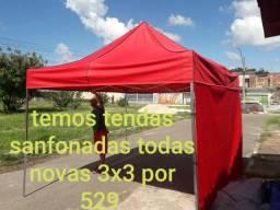 Tendas sanfonadas na promocao