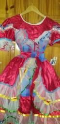 Vestido quadrilha infantil