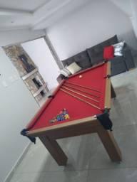 Mesa Tentação e Jantar Cor Cerejeira Tecido Vermelho Mod. XVJB0633