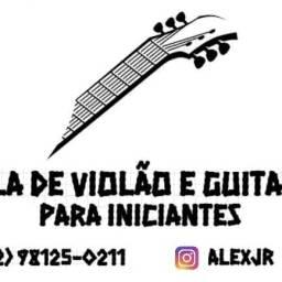 Aula de violão e guitarra para iniciantes
