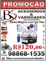 Globo Mágico Led rgb 18W De Cristal 6 Cores 800 Feixes De Luz-Luatek-306