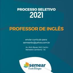 Vaga Professor de Inglês - Escola Bilíngue
