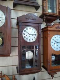Relógio antigo carrilhão Junghans, Reguladora, Gustav Becker, Silco