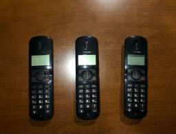 Telefones phillips com 3 ramais
