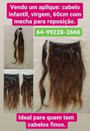 Aplique de cabelo Humano padrão Infantil