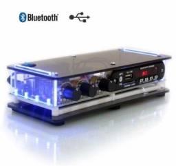 Kit Som Ambiente amplificador Bluetooth + 4 arandelas de embutir